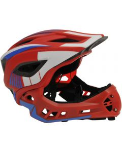 IKON Full Face Helmet | Red/blue