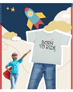 Born To Ride Kids Cycling T-shirt
