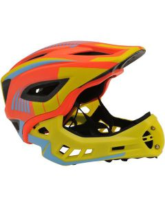 IKON Full Face Helmet | Orange/Yellow-Small