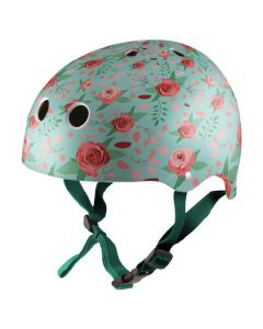 Kiddimoto Floral Kids Cycling/Skateboarding Helmet