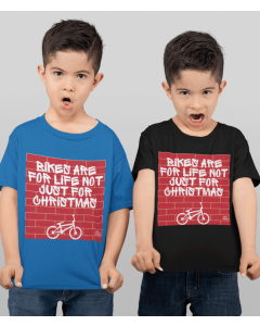 Bikes Are For Life Not Just For Christmas - Kids Cycling T-Shirt