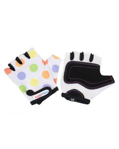 Kiddimoto Pastel Dotty Cycling Gloves-Small